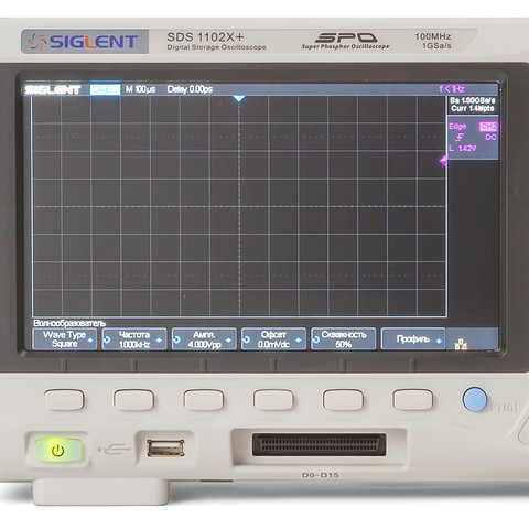 Фосфорний цифровий осцилограф SIGLENT SDS1102X+ Прев'ю 5